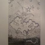2016 Hongaars Gordijn, tekening, 200 x 140 cm