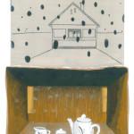 In het geheime huis, gouache op papier, 2019